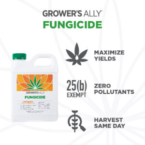 Grower's Ally Fungicide is an OMRI Listed® fungicide and bactericide for use on cannabis and hemp.