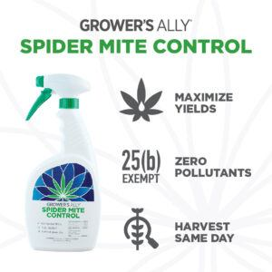 Grower's Ally Spider Mite Control is an OMRI Listed® insecticide, miticide and repellent for use on cannabis and hemp.